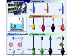 Boyas de nivel para líquidos y sólidos