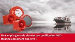 Compro, Alarmas con certificación MED (Marine equipment directive )