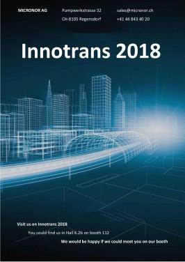 Micronor estará presente en Innotrans 2018