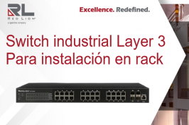 Red Lion- Presenta el nuevo switch industrial gestionable Layer 3 NT328G