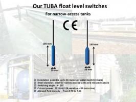 ATMI- Interruptores de nivel de flotador de pequeño diámetro TUBA